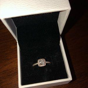 Real gold pandora ring